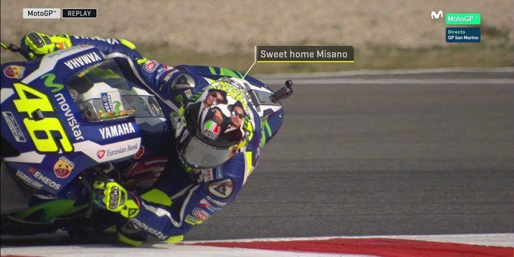"El casco ""granuja"" de Rossi para Misano"