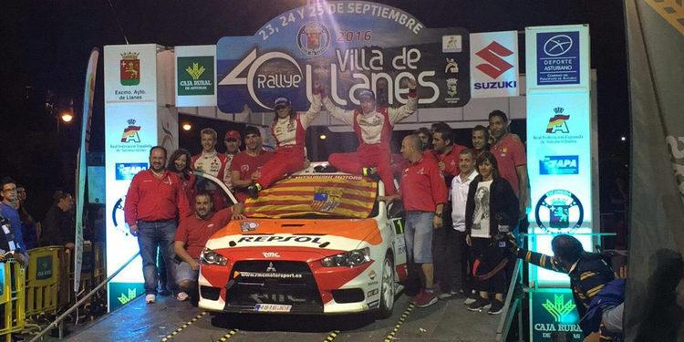 El Rally Villa de Llanes le da la victoria y el título a Cristian García