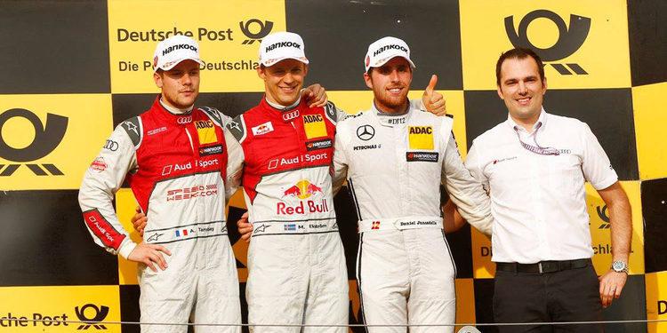 Mattias Ekström se lleva la carrera dominical en Hungaroring