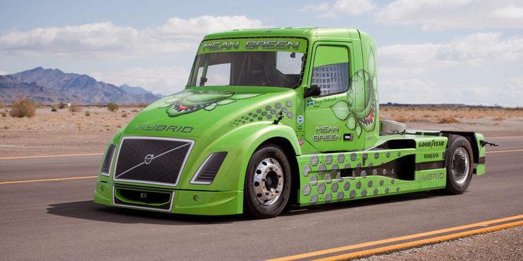 Mean Green, el camión ecológico más veloz del mundo