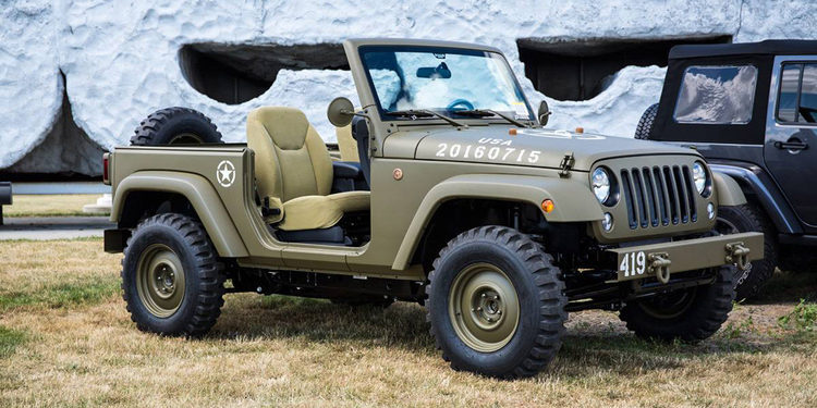 Jeep Wrangler 75th Salute Concept, revive la historia
