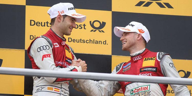 Miguel Molina saborea el champán en la primera carrera de Hockenheim