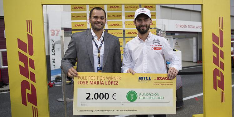 Pechito López gana el premio DHL Pole Position y dona el dinero a caridad