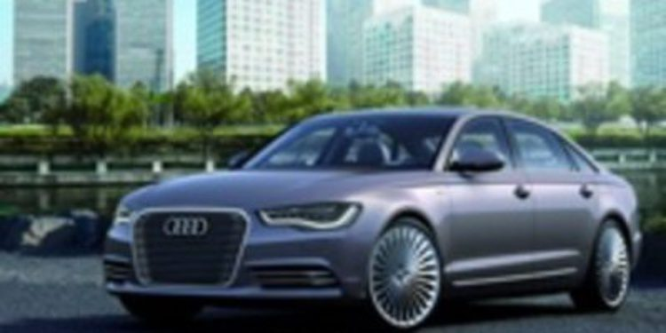 Audi A6 L e-Tron Concept, un A6 con mucha chispa para Pekín