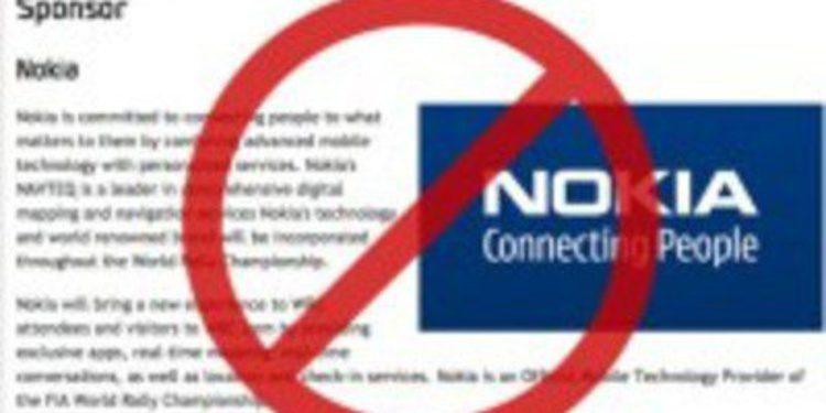 Nokia cierra el grifo al Mundial de Rallies
