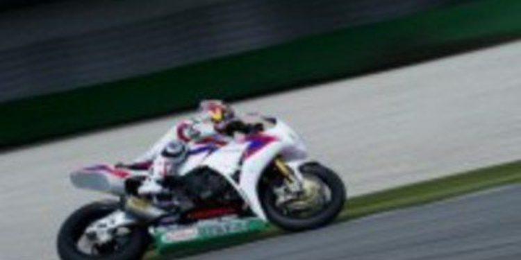 El equipo Honda de SuperBikes completa un test en Assen