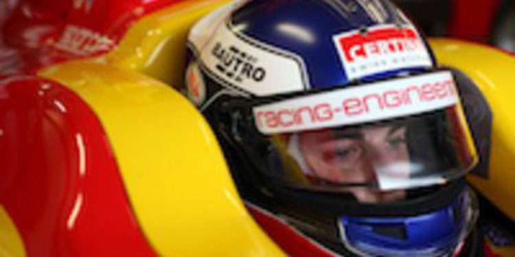 Fabio Leimer intratable bajo la lluvia en la clasificación de GP2 en Silverstone