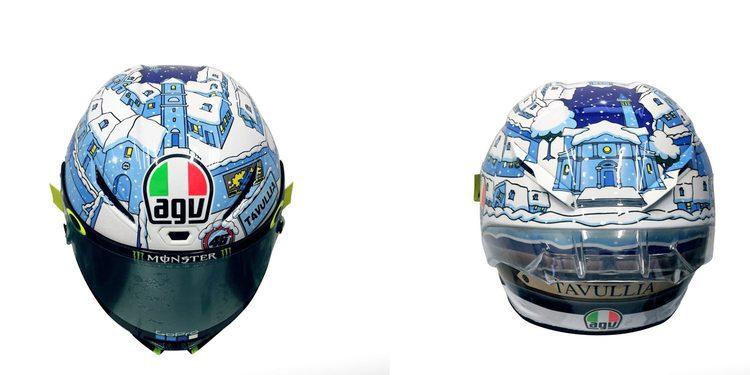 El casco de Rossi en la pretemporada