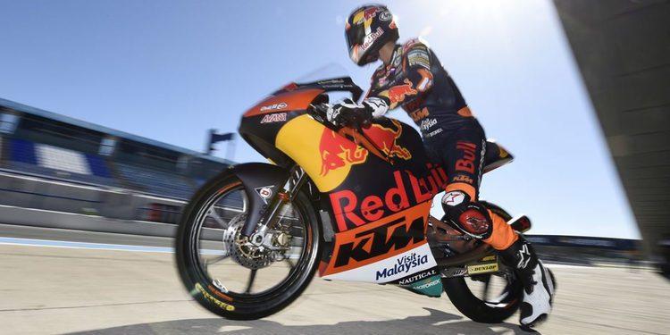 Las KTM de Moto3 se desenvuelven bien