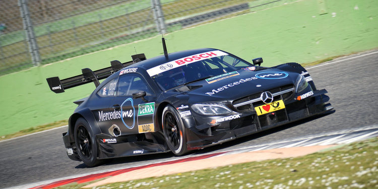 Test del Mercedes-AMG C63 DTM en Vallelunga
