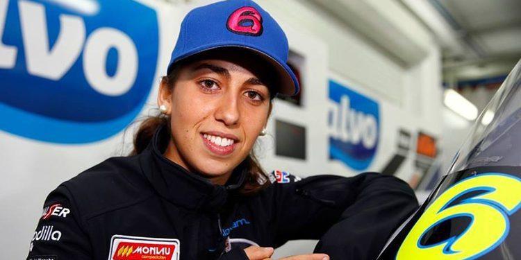 """María Herrera: """"Estamos trabajando muy bien en la moto"""""""