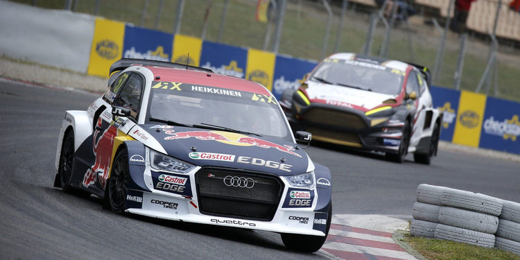 Rallycross Barcelona: La lluvia coloca a Toomas Heikkinen líder del sábado