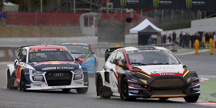Rallycross Barcelona: Mattias Ekström y Timo Scheider, imparables en Q3