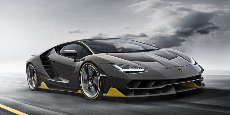Lamborghini Centenario de paseo en París