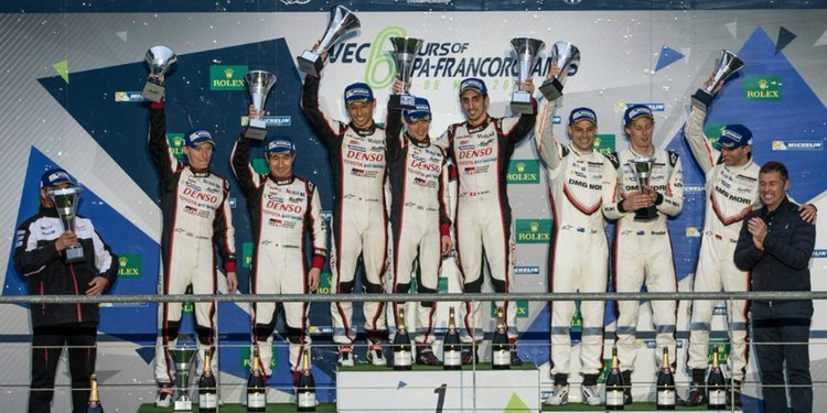 Toyota dominó las 6 horas de Spa