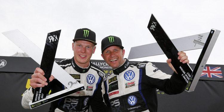 """Johan Kristoffersson, líder: """"Petter y yo mostramos el duro trabajo de todo el equipo"""""""