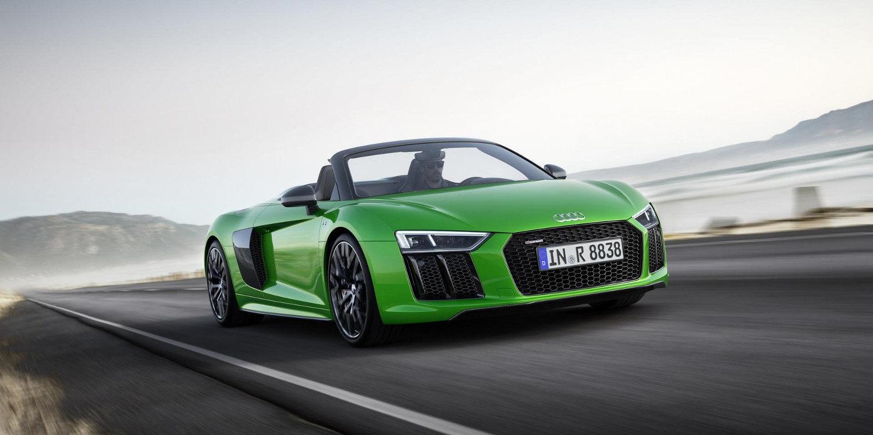 Audi presentó el impresionante R8 Spyder Plus 2017