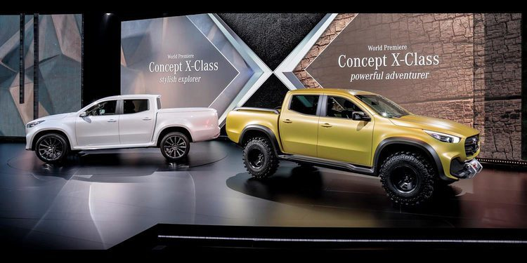 Mercedes-Benz presentó su primera pick up Clase X