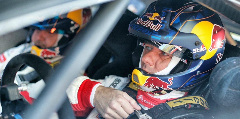 Loeb se sube al C3 WRC sobre la grava catalana