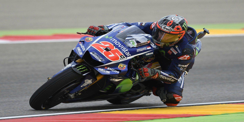 Maverick Viñales consigue la pole en Aragón