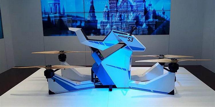Solo para la policía de Dubái llega la moto voladora HoverBike Scorpion-3