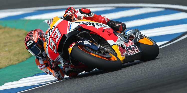Márquez domina la segunda jornada de test en Tailandia