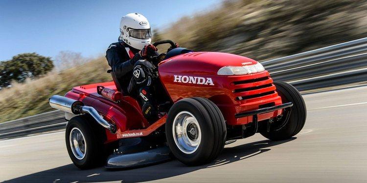 El corta césped mas rápido del mundo lo tiene Honda