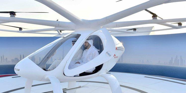 Ahora en Dubái los taxis aéreos surcan los aires