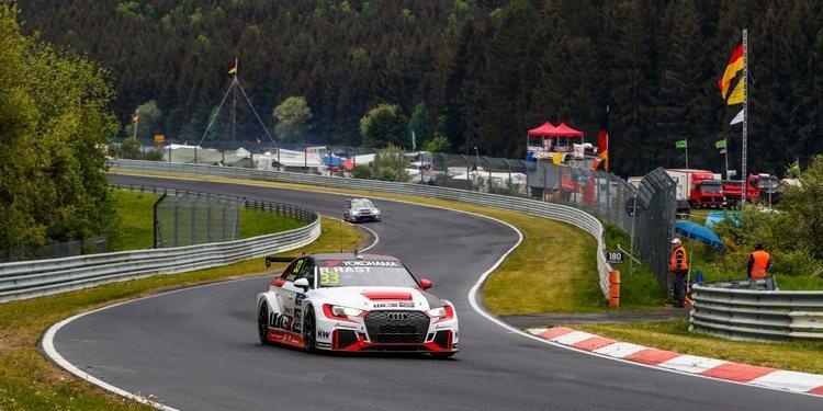 También sobre mojado manda René Rast en el Nürburgring Nordschleife