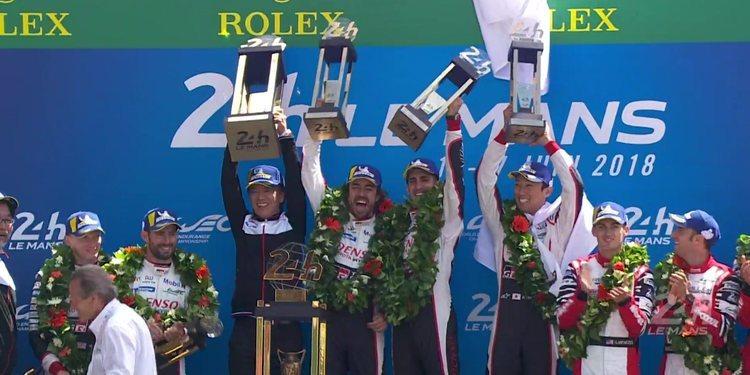 Fernando Alonso ganó las 24 horas de Le Mans con Toyota y sueña con la triple corona