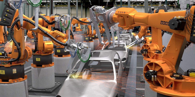 El Robot Industrial de Ensamblaje Automotriz