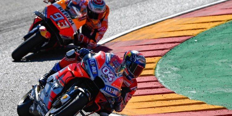 """Andrea Dovizioso: """"Antes sólo veíamos el podio de lejos en Aragón, esta vez lo alcanzamos"""""""