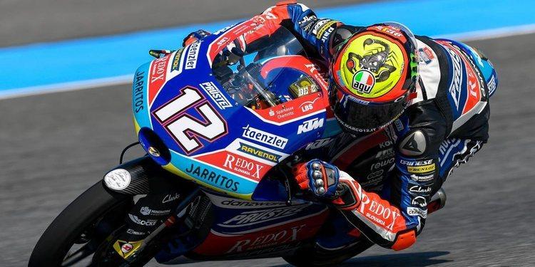 Bezzecchi se hace con la pole en Moto3 del ThaiGP