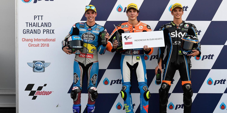 Lorenzo Baldassarri consigue la primera pole tailandesa de Moto2