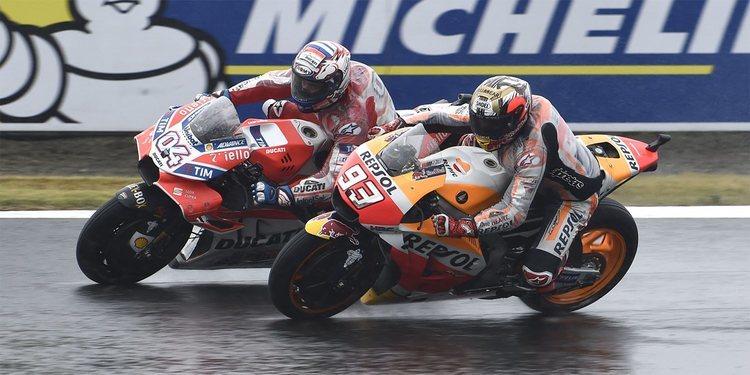 Motegi 2017: épico duelo bajo la lluvia entre Dovizioso y Márquez