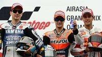 Triplete histórico español en MotoGP