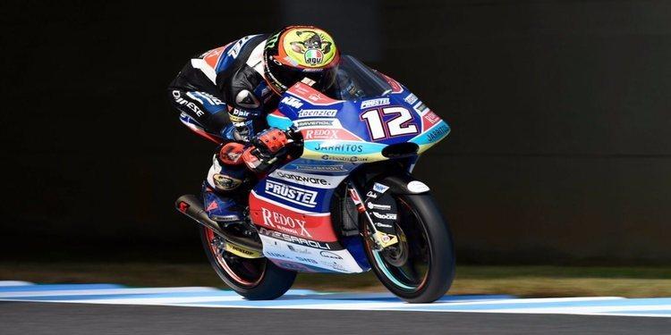 Bezzecchi gana, Martín se cae y el Mundial de Moto3 está en el aire