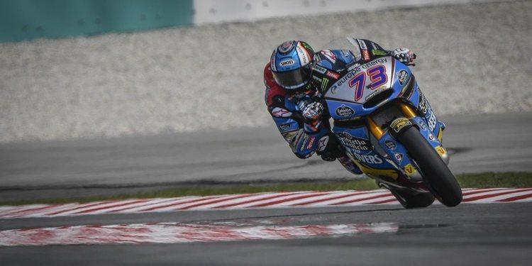 Alex Márquez domina en el primer día en Malasia