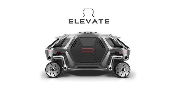 El Hyundai Elevate Concept, un vehículo que camina