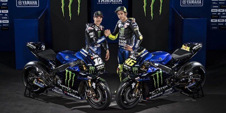 Monster Energy Yamaha MotoGP se presenta en sociedad con una decoración renovada