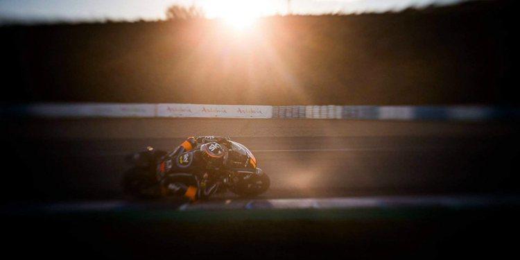 Luca Marini y Tony Arbolino lideran el primer día en Jerez