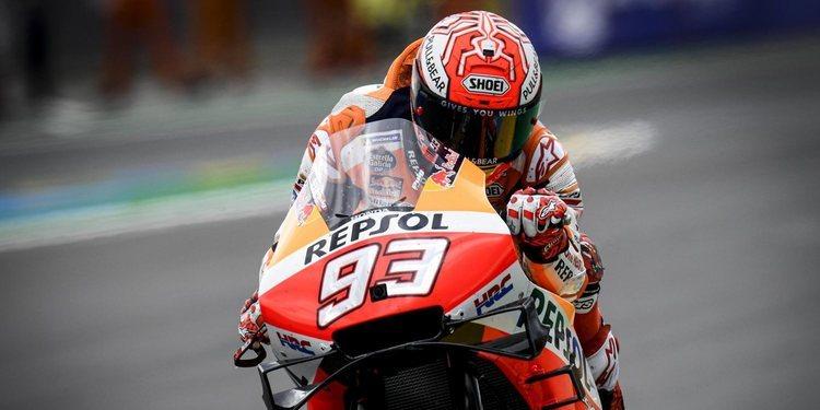 Marc Márquez es el más rápido en condiciones mixtas y se lleva la pole en Le Mans