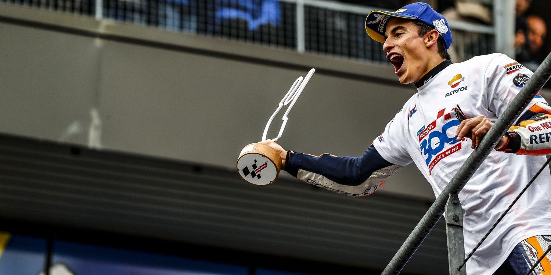 """Marc Márquez: """"Es fantástico haber conseguido la victoria 300 de Honda"""""""
