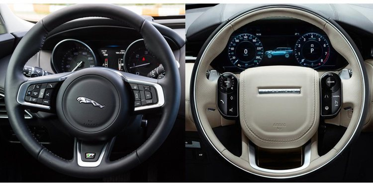 Nuevo volante sensorial de Jaguar Land Rover