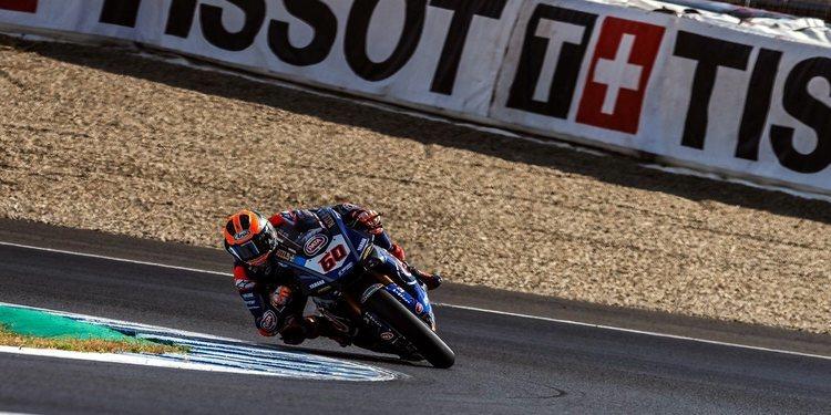 Primeros entrenos en Jerez: Van der Mark asusta, Bautista al frente