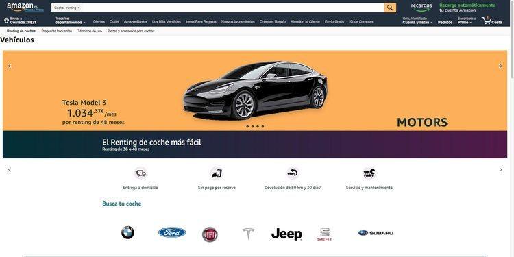 El Renting de Amazon, su funcionamiento y los autos que incluye