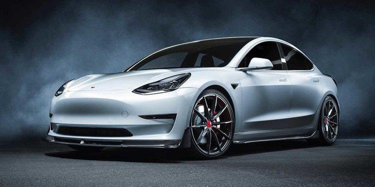 Mira lo que le hizo la Vorsteiner a este Tesla Model 3