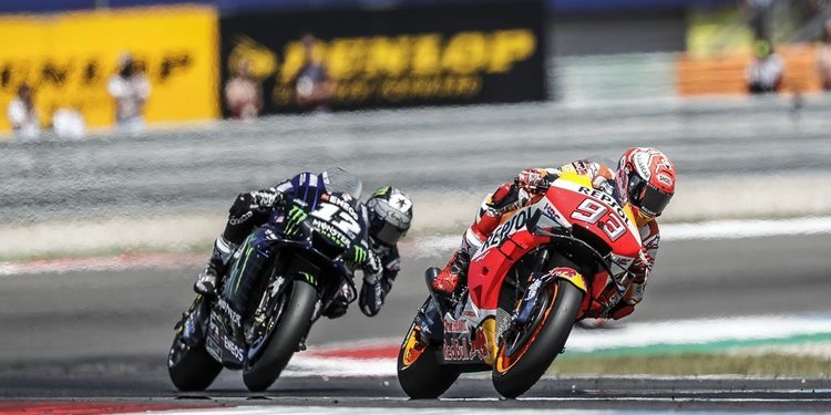 """Marc Márquez: """"No sé qué han hecho en Yamaha, pero ahora van muy rápido"""""""