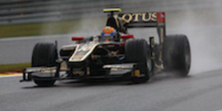 Esteban Gutierrez lidera los libres sobre piso mojado de GP2 en Singapur