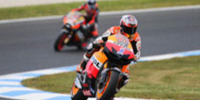 Triplete de Casey Stoner en los libres de MotoGP en Phillip Island